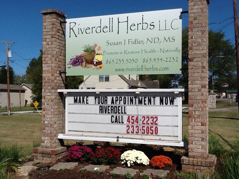 New Riverdell Herbs Sign